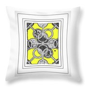 Bases Are Loaded Yellow Throw Pillow