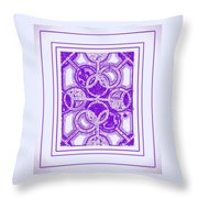 Bases Loaded In Purple Throw Pillow