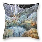 Bashful Birches Throw Pillow