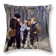 Bashkirtsev: Meeting, 1884 Throw Pillow