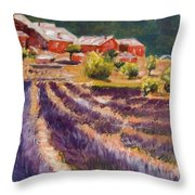 Lavender Smell Throw Pillow