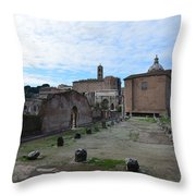 Basilica Aemilia From Behind Throw Pillow