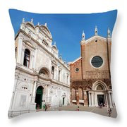 Basilica Dei Santo Giovanni E Paolo Throw Pillow