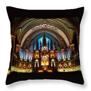 Notre - Dame Basilica - Montreal Throw Pillow