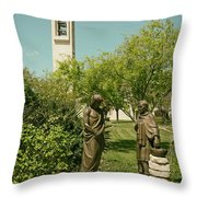 Basilica Of Our Lady Of San Juan Del Valle Throw Pillow