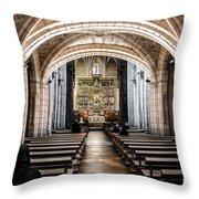 Basilica Of San Isidoro De Leon - Interior Throw Pillow
