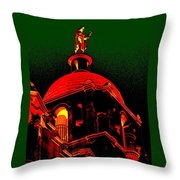 Basilica Of The Little Flower, Dome With Green Sky Throw Pillow