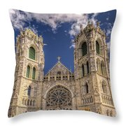 Basilica Of The Sacred Heart Newark New Jersey Throw Pillow