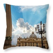 Basilica Papale Di San Pietro Throw Pillow