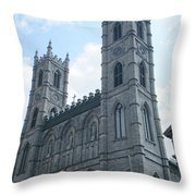 Basilique Notre Dame Throw Pillow