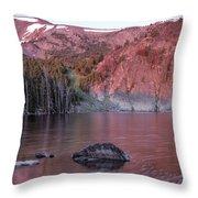 Basin Lake Sunrise 2 Throw Pillow