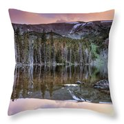 Basin Lake Sunset Throw Pillow