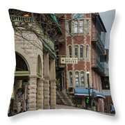 Basin Park And Flatiron Flats Throw Pillow