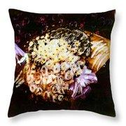 Basket Bouquet Throw Pillow