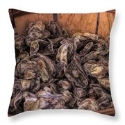 Basket Full Of Oysters Throw Pillow
