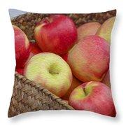 Basket Of Apples Throw Pillow