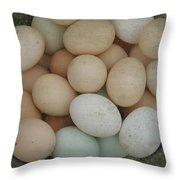 Basket Of Eggs  Throw Pillow