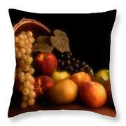 Basket Of Fruit Throw Pillow by Tom Mc Nemar