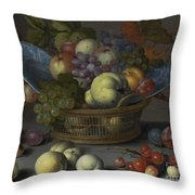 Basket Of Fruits Throw Pillow