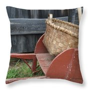 Basket On Route Throw Pillow