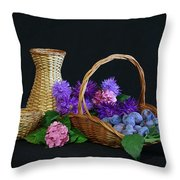Basket With Astern Throw Pillow