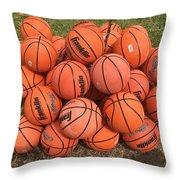 Basketbal Anyone Throw Pillow