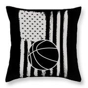 Basketball American Flag Usa Apparel Throw Pillow