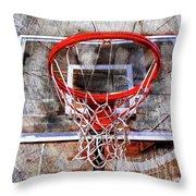 Basketball Art Version 28 Throw Pillow