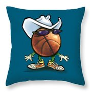Basketball Cowboy Throw Pillow