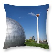 Basketball Hall Of Fame Throw Pillow