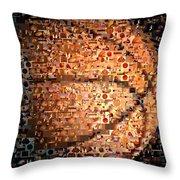 Basketball Mosaic Throw Pillow
