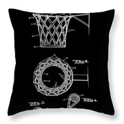 Basketball Net Patent 1951 In Black Throw Pillow