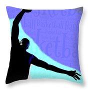 Basketball Poster Throw Pillow