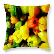 Basketful Of Hotties Throw Pillow