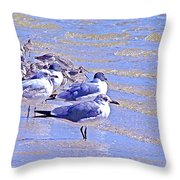Basking On The Seashore Throw Pillow