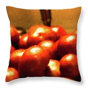 Basket Of Tomatoes M1 3309t2 - Photo Art Throw Pillow