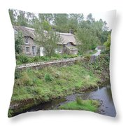 Baslow Cottages Throw Pillow