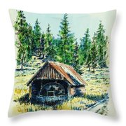 Basque Oven - Russell Valley Throw Pillow