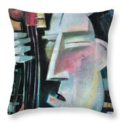 Bass Face Throw Pillow