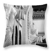 Bass Hall Fort Worth 520 Bw V4 Throw Pillow
