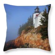 Bass Harbor Lighthouse, Acadia National Park Throw Pillow