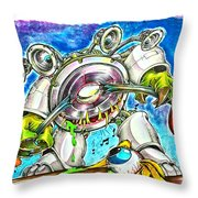 Bass Monster Throw Pillow
