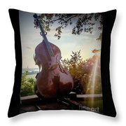 Bass Rhythm And Sound Of A Community  Throw Pillow
