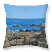 Bass Rocks Gloucester Throw Pillow