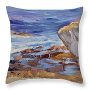Bass Rocks Throw Pillow