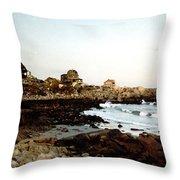 Bass Rocks Sunset Throw Pillow