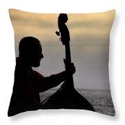 Bass Silhouette Throw Pillow