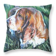 Bassett Hound 1 Throw Pillow