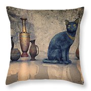Bastet And Pottery Throw Pillow
