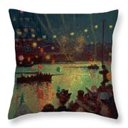 Bastille Day At Lorient Throw Pillow
